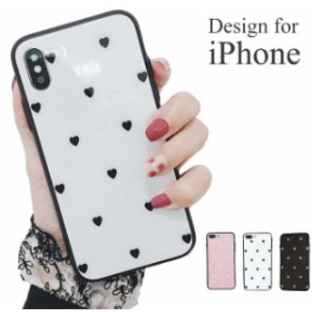 iPhone 7 8 plus プラス ハート アイフォン ケース カバー 韓国 ハードケース 防水 耐衝撃 スマホケース 柄