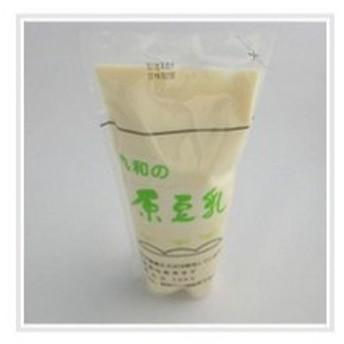『クール便』 【豆乳】 国産大豆100%、消泡剤不使用。豆乳濃度が非常に高く、すっきり、甘味のある豆乳です。