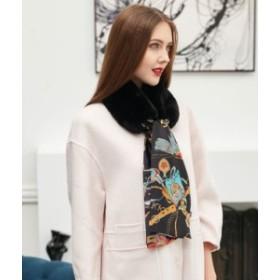 フェイクファー×スカーフの上品おしゃれなマフラー エレガント 大人女性  個性的 保温性抜群 防寒 全6色