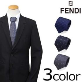 フェンディ FENDI ネクタイ シルク イタリア製 ビジネス 結婚式 メンズ