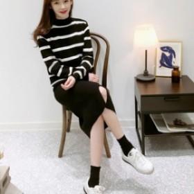セーターとスカートのセットアップ☆0688
