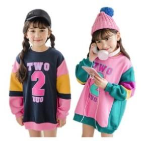 ベーシック パーカー 女の子 韓国子供服 キッズ 90-150cm S M L 裏起毛 長袖 秋冬 かわいい お出かけ 運動着 スタジアムジャンパー
