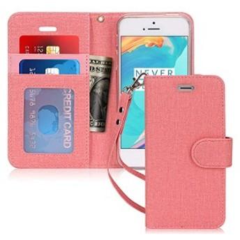 iPhone SE ケース iPhone5S ケース iPhone5 ケース, 手帳型 カード収納 スタンド機能 マグネット開閉 ストラップ付き スキミング...