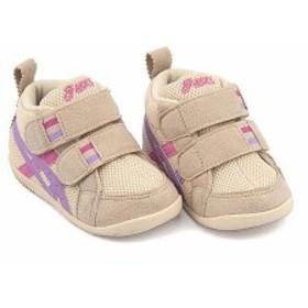 アシックス スクスク スニーカー 女の子 男の子 キッズ ベビー 子供靴 ファブレ FIRST MS 2 asics SUKU2 TUF110 ベージュ/L
