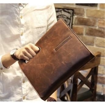 メンズバッグ 手提げ/斜めがけ ファッション レザー クラシック 無地 旅行/通学/ビジネス/鞄/デイパック シンプル デイパック メンズバッグ