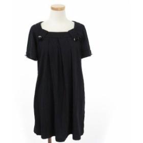 【中古】ミニマム MINIMUM ワンピース ミニ 半袖 2 黒 ブラック ☆CA☆キ29-2店 /fy0201 レディース
