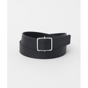 SMELLY(スメリー) ファッション雑貨 ベルト シンプルメタルシカクバックルベルト