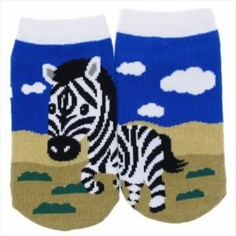 シマウマ 子供用靴下 キッズぴったんこソックス アニマルフレンズ アンクルソックス グッズ