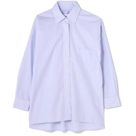 アッシュ・スタンダード H/standard 《2nde edition》100/2ブロードシャツ ブルー S【税込10,800円以上購入で送料無料】