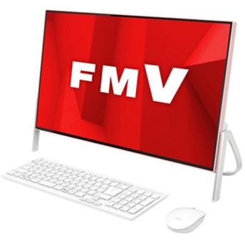 富士通一体型デスクトップパソコンKuaL ESPRIMOホワイト×コーラルピンクFMVF52D1PG