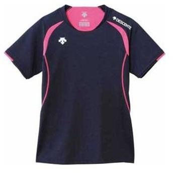 デサント 女性用 バレーボール 半袖ライトゲームシャツ(NVY・XO-B) DESCENTE DS-DSS5421W-NVY-XOB 返品種別A