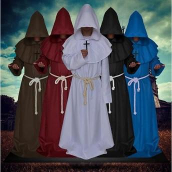 ハロウィンコスプレ コスプレ コスチューム 神父 十字架牧師 宣教師 牧師 キリスト教 修士 大人用 メンズ 男性用