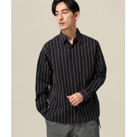 417 EDIFICE レジメンストライプ レギュラーシャツ ネイビー M