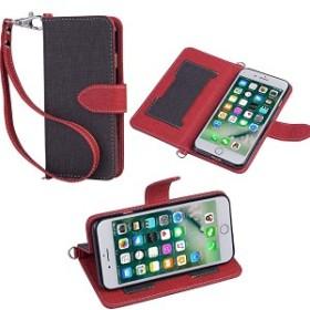 iphone8 iphone7 ケース 手帳型 デニム風レザー 耐衝撃 ストラップ付き  送料無料