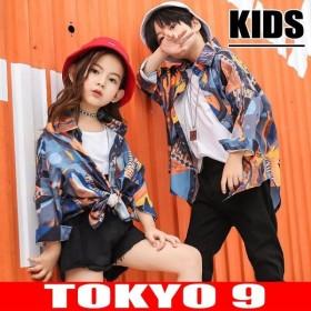 子供服 長袖 シャツ トップス 女の子 男の子 キッズ ガールズ ボーイズ ダンス HIPHOP 秋冬新作 TOKYO9