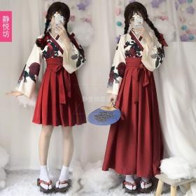 山茶花の恋、大正少女 和風 着物 コスプレ 衣装 コスチューム レディース 女性 クリスマス ハロウィン 夏 祭