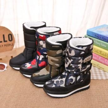 冬のブーツ雪ブーツレインブーツ綿の靴暖かい非スリップ防水 スノーブーツ 子供 ウィンターブーツ スノーシューズ レインブーツ 防水 防寒 防滑 キッズ 長靴 人気 フリース ブーツ