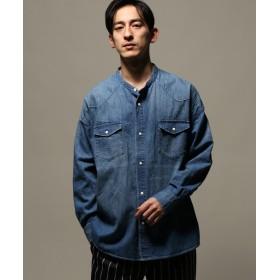 【40%OFF】 ジャーナルスタンダード DENIM WESTERN ワイドバンドカラーシャツ メンズ ネイビー L 【JOURNAL STANDARD】 【セール開催中】