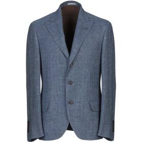《期間限定セール開催中!》BRUNELLO CUCINELLI メンズ テーラードジャケット ブルーグレー 48 ウール 66% / 麻 22% / シルク 12%