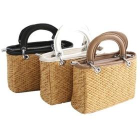 かごバッグ カゴバッグ 編みバッグ 夏 ショルダーバッ グ トートバッグ ストロー 収納力 リゾート ビーチ リゾートレ ディース 鞄