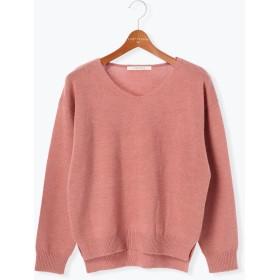 ニット・セーター - Lugnoncure シアバター加工天竺Vネックプルオーバー