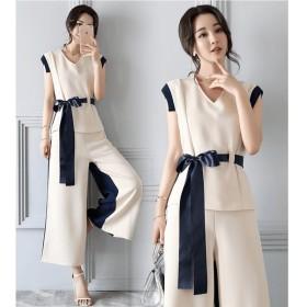 送料無料!ワンピース オールインワン ヨーロッパ風 リボン フォーマル ドレス 綺麗 レディース