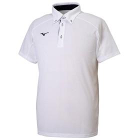 MIZUNO SHOP [ミズノ公式オンラインショップ] ポロシャツ[ユニセックス] 01 ホワイト×ディープネイビー 32MA9180