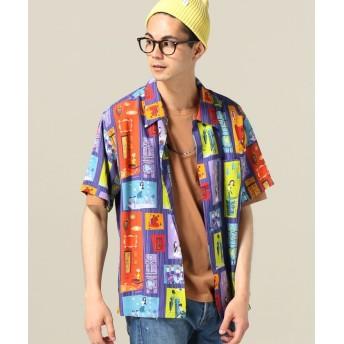 ジャーナルスタンダード KEONI OF HAWAII / ケオニ・オブ・ハワイ : TIKI PARADAISE by SHAG メンズ パープル L 【JOURNAL STANDARD】