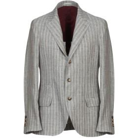 《期間限定セール開催中!》BRUNELLO CUCINELLI メンズ テーラードジャケット ドーブグレー 50 麻 100%