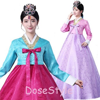 韓国 20色選べる 民族衣装 チマチョゴリ 豪華 オシャレ コスプレ パーティードレス 服装 コスチューム ハロウィン