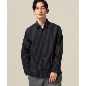 417 EDIFICE レジメンストライプ レギュラーシャツ グリーン M