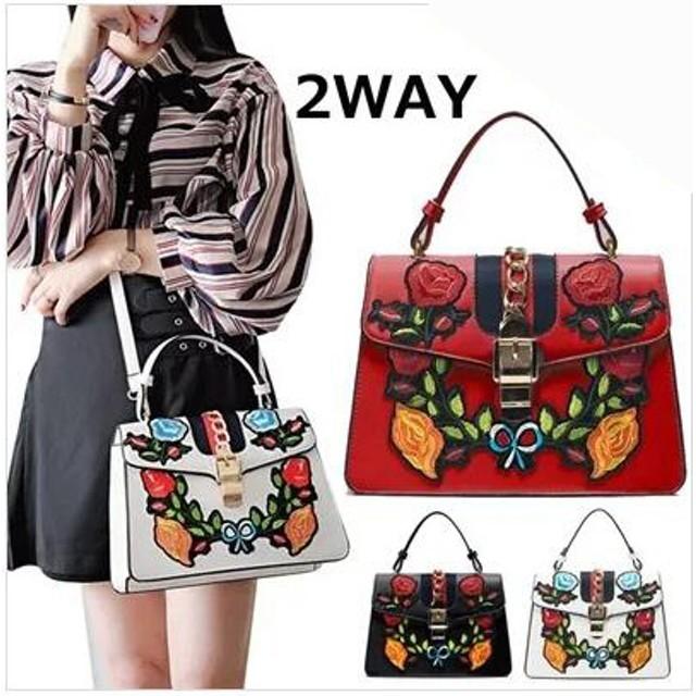 レディースファッションバッグ/人気カバン/流行ってる花柄の刺繍/通勤/女性用バッグ/3 colors