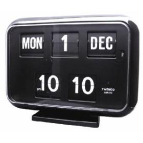TWEMCOカレンダー置き掛け兼用時計 QD-35 BLACK