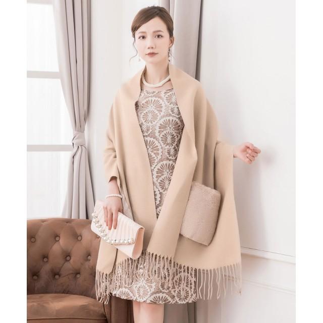 e73222b2140c5 ワンピース - DRESS SCENE 結婚式 ショール パーティー ドレス ワンピース ポケットファー 裾 フリンジ コーディネート お呼ばれ