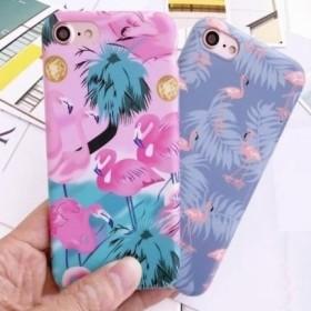 トロピカル風 フラミンゴ 2色 可愛い iPhone スマホケース 送料無料 iPhone6/6s iPhone6plus/6splus iPhone7/8 iPhone7plus/8plus