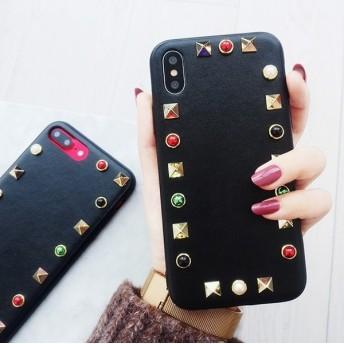 カラフル スタッズ オトナ 女子 iPhoneケース 送料無料 iPhone6/6s iPhone6plus/6splus iPhone7/8 iPhone7plus/8plus iPhoneX