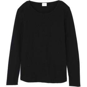 ローズバッド ROSE BUD ワッフルロングTシャツ ブラック 【税込10,800円以上購入で送料無料】