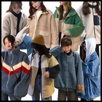 新作ドルファージャケット 可愛い/ /韓国ファッション/超人気ジャケット品質保証 超高品質 原宿BF风超高品質/原宿 もこもこプードルボア風ふわふわファーコートフェイクファーシ