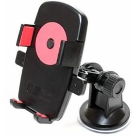 スマホ ホルダー 角度 調節 車載 可能 簡単 装着 スタンド (A 吸盤)