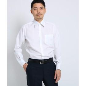 タケオキクチ 100/2ブロードシャツ[ メンズ シャツ ワイシャツ 形態安定 無地 白 ] メンズ ホワイト(001) 04(LL) 【TAKEO KIKUCHI】