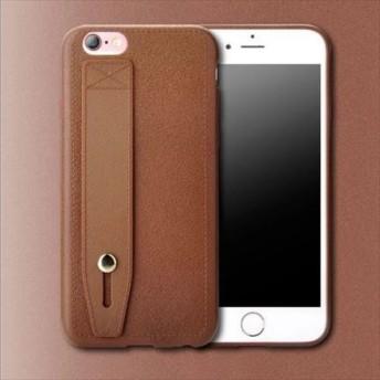 シンプル ベルト付き 4色 iPhone スマホケース 送料無料 iPhone6/6s iPhone6plus/6splus iPhone7/8 iPhone7plus/8plus iPhoneX