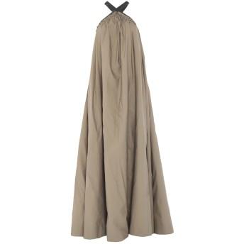 《セール開催中》BRUNELLO CUCINELLI レディース ロングワンピース&ドレス カーキ M コットン 75% / ナイロン 25% / 真鍮/ブラス