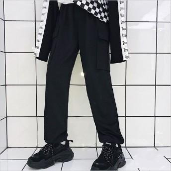 ヒップホップ 運動パンツ 原宿ファッション レディース ズボン ダンスウェア HIPHOP ステージ 公演服 ゆったり ストリート カジュアル