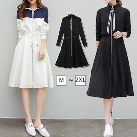韓国ファッション新作シンプル/縞模様/無地 ワンピース/ブラウス/ドレス/ロングシャツ 分けって着てよくて、ほかの衣服を組合わせていいです