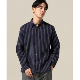 417 EDIFICE レジメンストライプ レギュラーシャツ ブルー A S