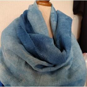 波をイメージ タイ手織り生地 綿ストール