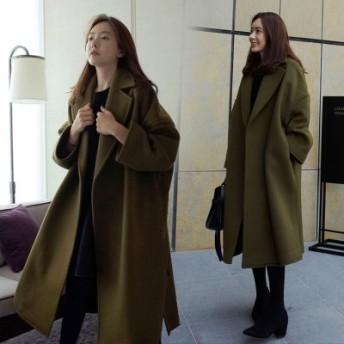 韓国ファッション/ウォッシュドデニムジャケットワンピース ダンガリーシャツ デニムチュニック ポケット 大きいサイズ 長袖 カジュアルシャツ女性がパーカージャケッ