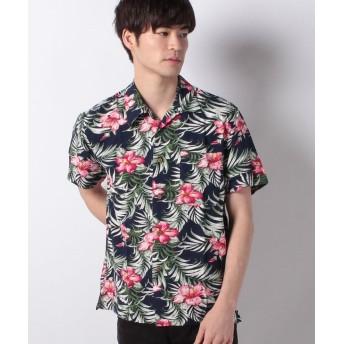 マルカワ レーヨン素材 アロハシャツ メンズ 柄1 M 【MARUKAWA】