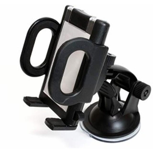 スマホ ホルダー 角度 調節 車載 可能 簡単 装着 スタンド (B 吸盤)