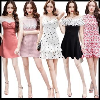 韓国ファッション、つりスカート、セクシーなワンピース、レースのワンピース、正品販売、安心して買ってくださいドレス、